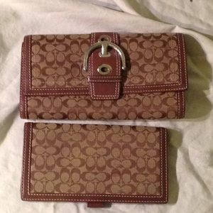 Authentic Coach Wallet and checkbook holder